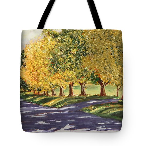 Autumn Lane Tote Bag