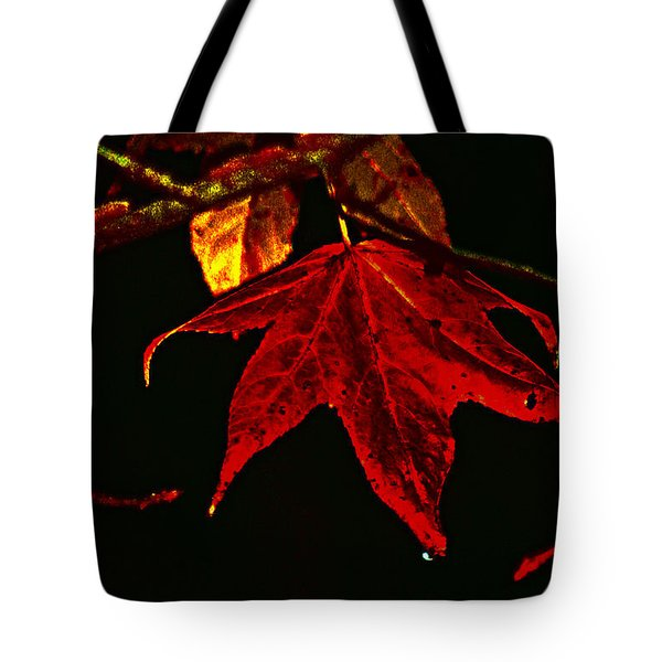 Tote Bag featuring the photograph Autumn Leaves by Lesa Fine