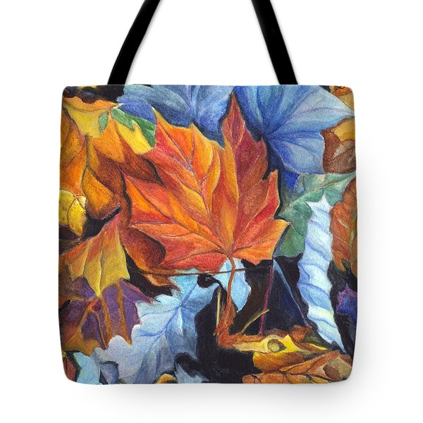 Autumn Leaves Of Red And Gold Tote Bag by Carol Wisniewski