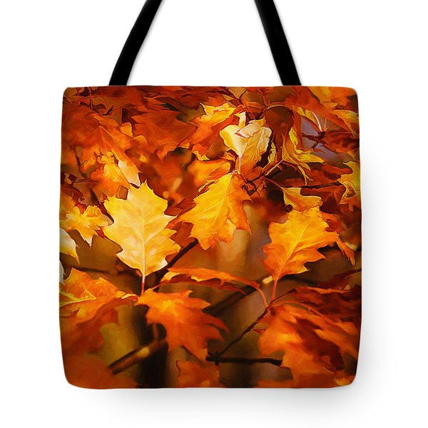 Autumn Leaves Oil Tote Bag by Steve Harrington