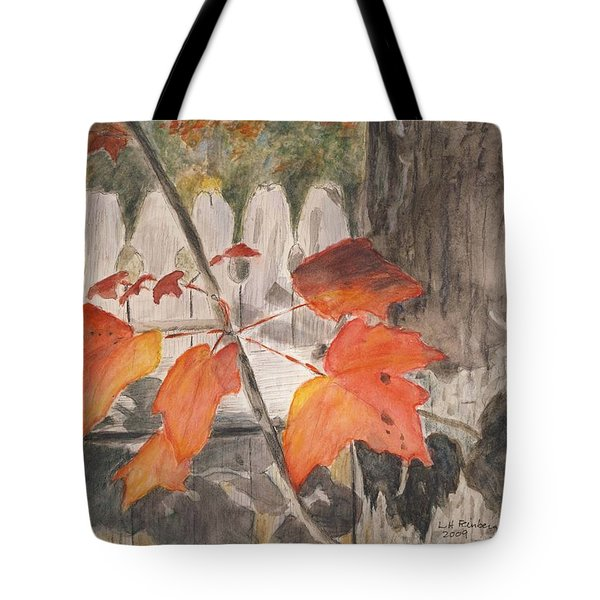 Autumn Leaves On Belmont St Tote Bag