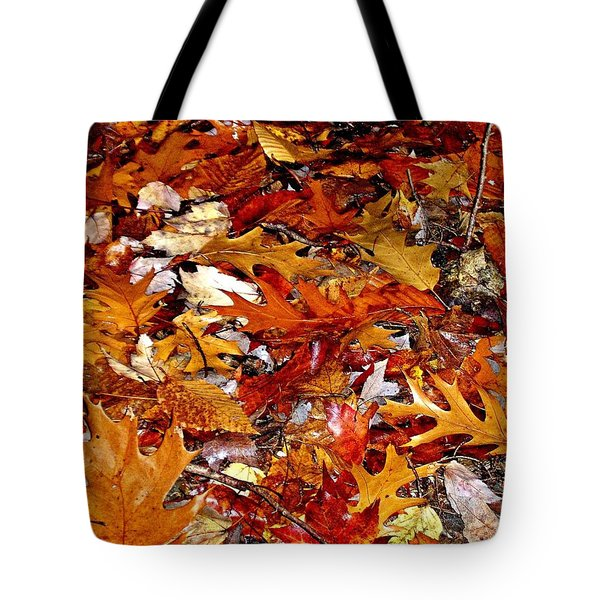 Autumn Leaves On The Ground In New Hampshire - Bright Colors Tote Bag