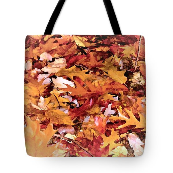 Autumn Leaves On The Ground In New Hampshire In Muted Colors Tote Bag