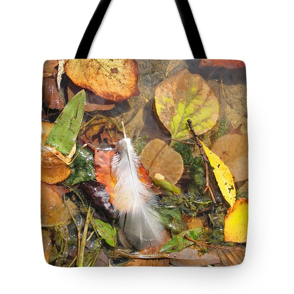 Tote Bag featuring the photograph Autumn Leavings by Ann Horn