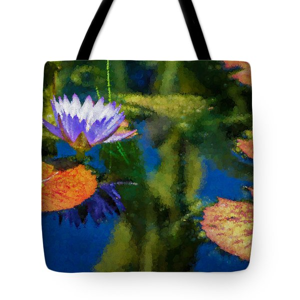 Autumn Lily Pad Impressions Tote Bag