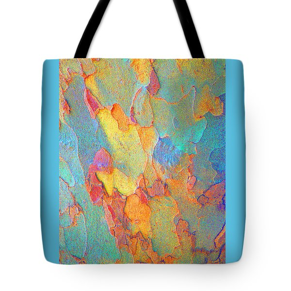 Autumn London Plane Tree Abstract 2 Tote Bag