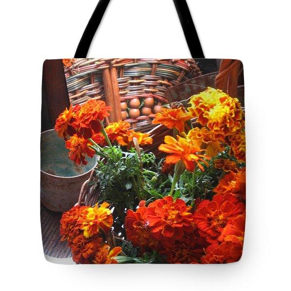 Autumn Marigolds Tote Bag