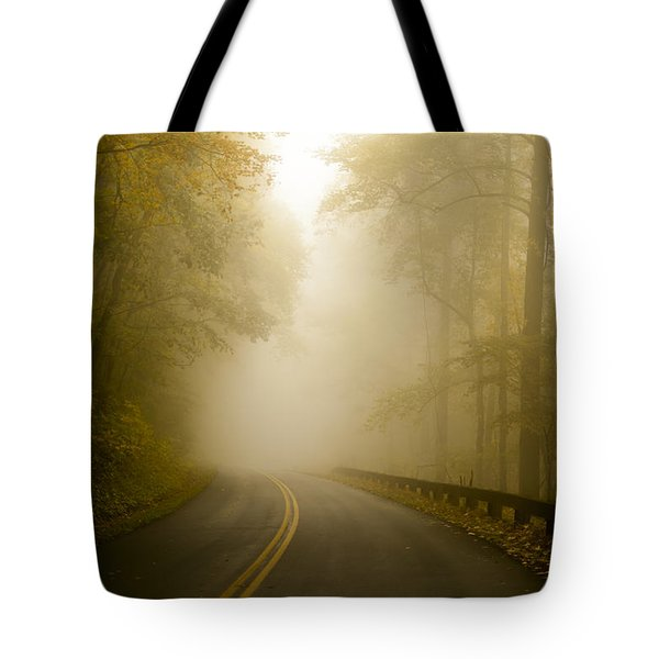 Autumn Mist Blue Ridge Parkway Tote Bag