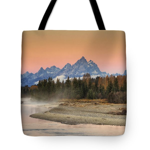Autumn Mist Tote Bag by Mark Kiver