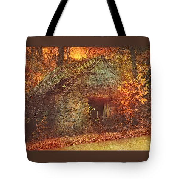 Autumn Mist On The Old Hoffman Road Tote Bag
