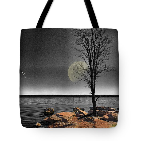 Autumn Moon Tote Bag by Betty LaRue