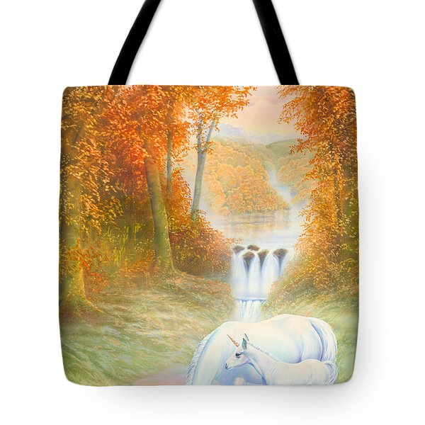 Autumn Morning Tote Bag by Andrew Farley