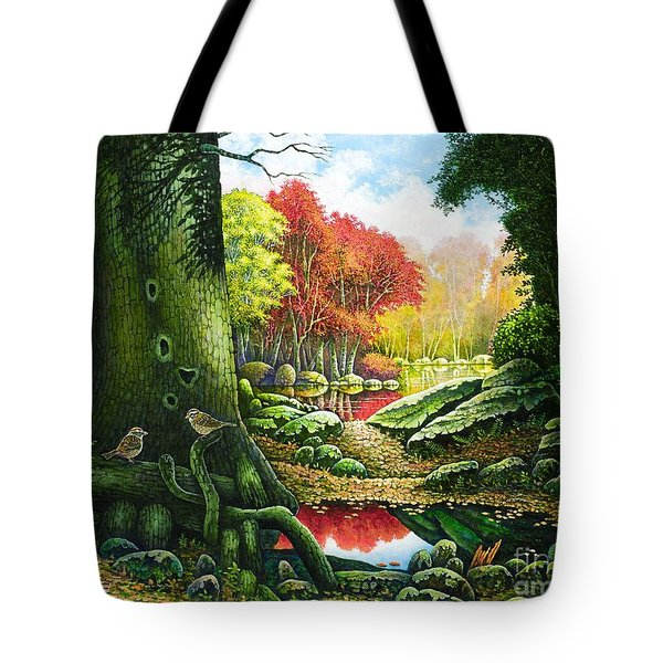 Autumn Morning In The Forest Tote Bag