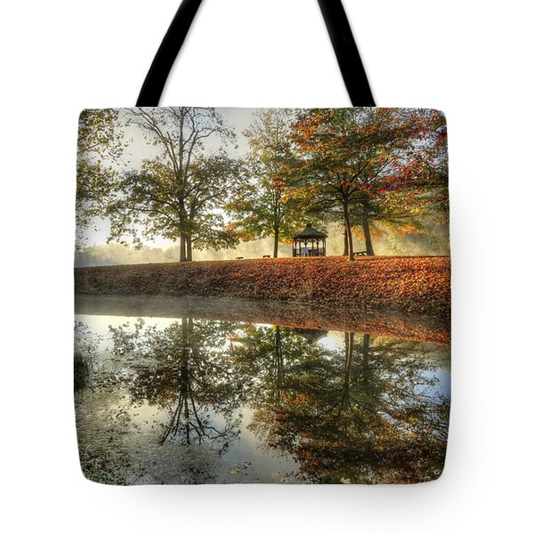 Autumn Morning Tote Bag by Jaki Miller