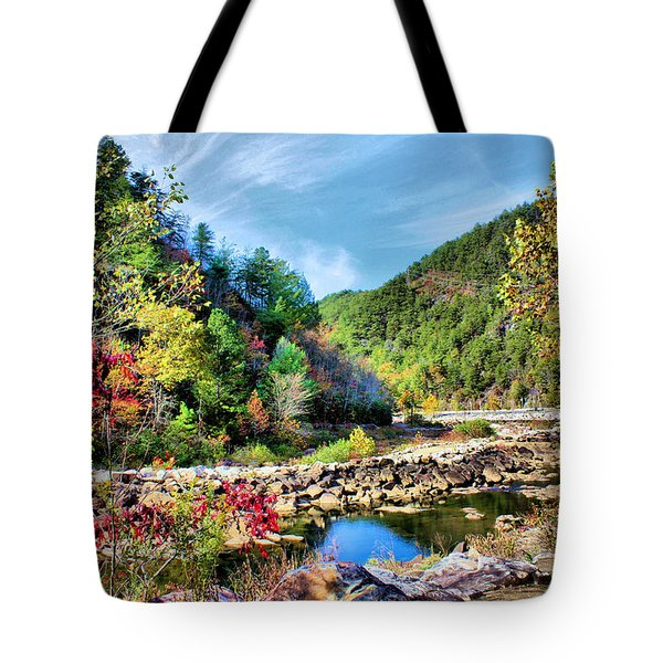 Autumn On The Ocoee Tote Bag