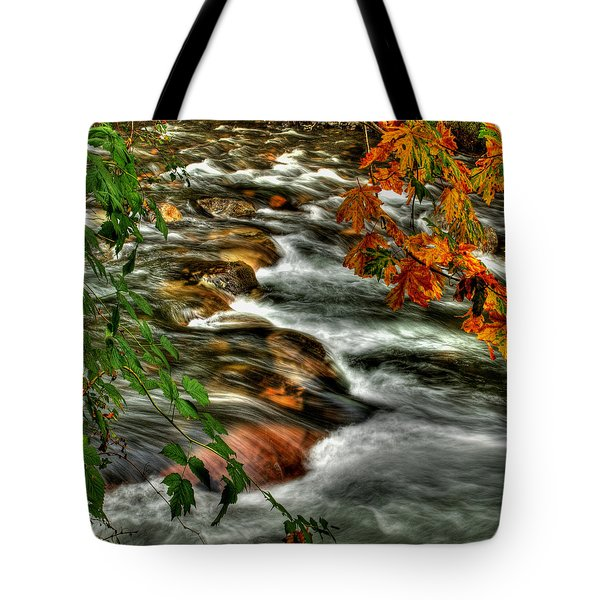 Autumn On The River Tote Bag by Randy Hall