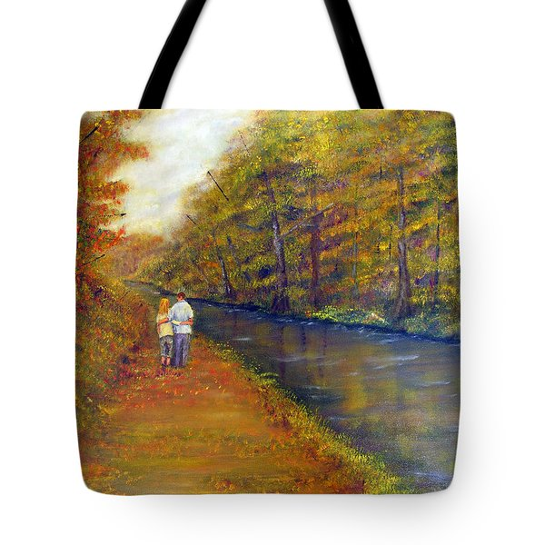 Autumn On The Towpath Tote Bag
