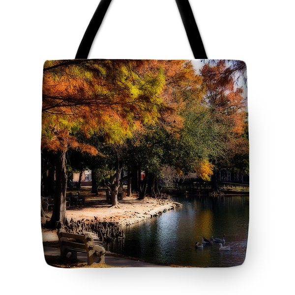 Autumn On Theta Tote Bag by Lana Trussell
