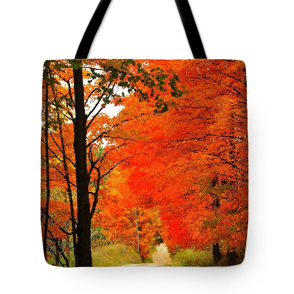 Autumn Orange 2 Tote Bag by Terri Gostola