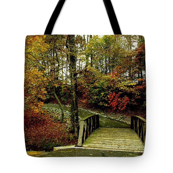 Tote Bag featuring the photograph Autumn Peace by James C Thomas