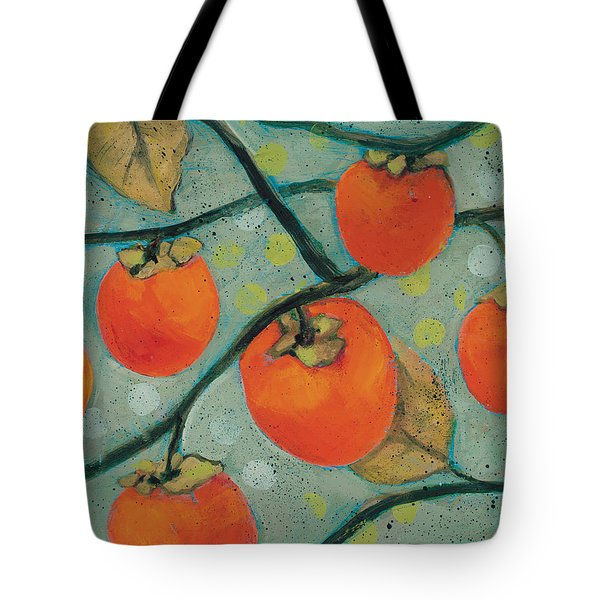 Autumn Persimmons Tote Bag by Jen Norton