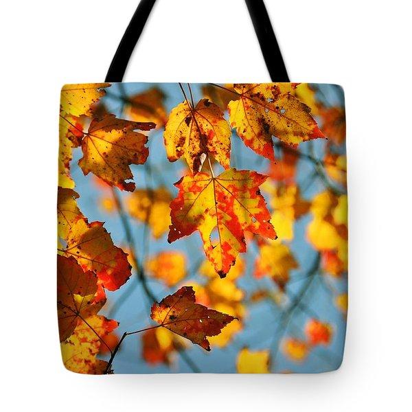 Autumn Petals Tote Bag by JAMART Photography