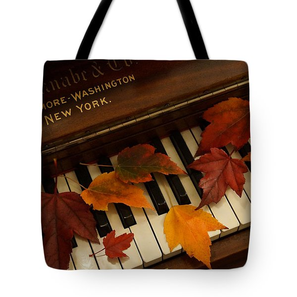 Autumn Piano 14 Tote Bag