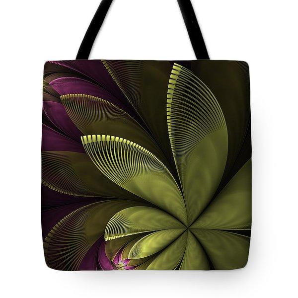 Tote Bag featuring the digital art Autumn Plant II by Gabiw Art