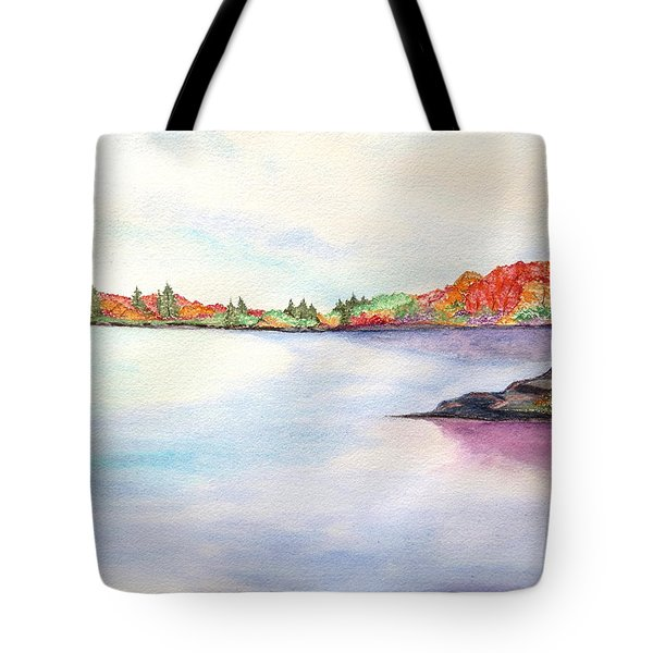 Autumn Pond Tote Bag