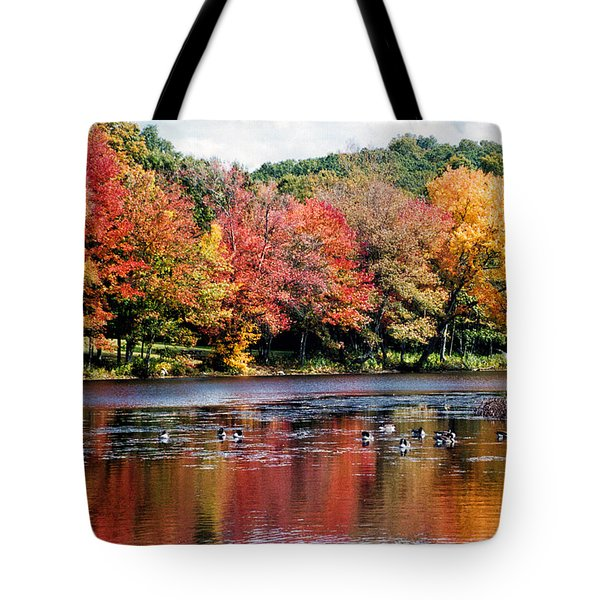 Tote Bag featuring the photograph Autumn Pond by William Selander