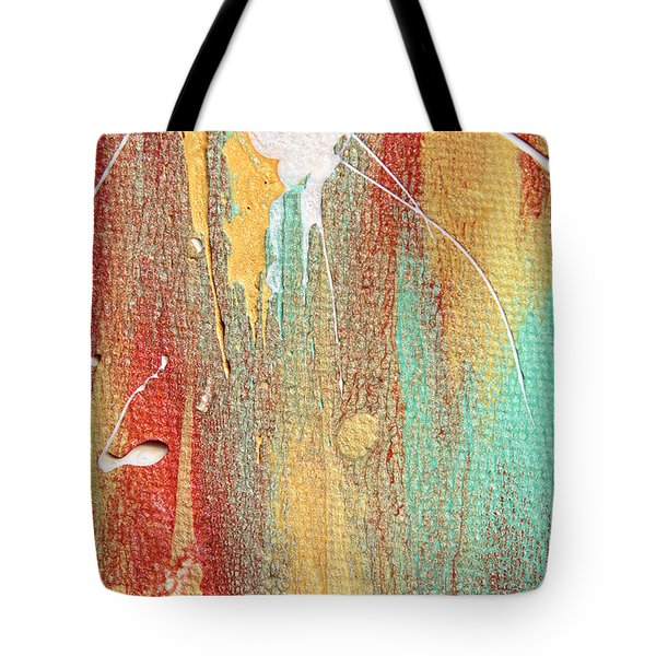 Autumn Rain Abstract Painting Tote Bag