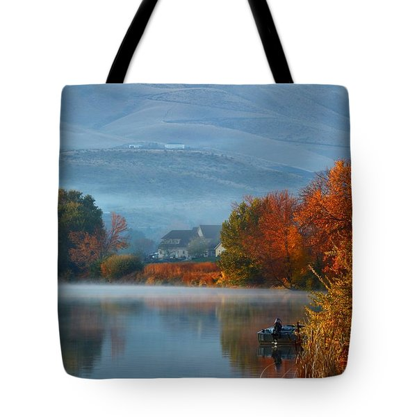 Tote Bag featuring the photograph Autumn Reflection by Lynn Hopwood