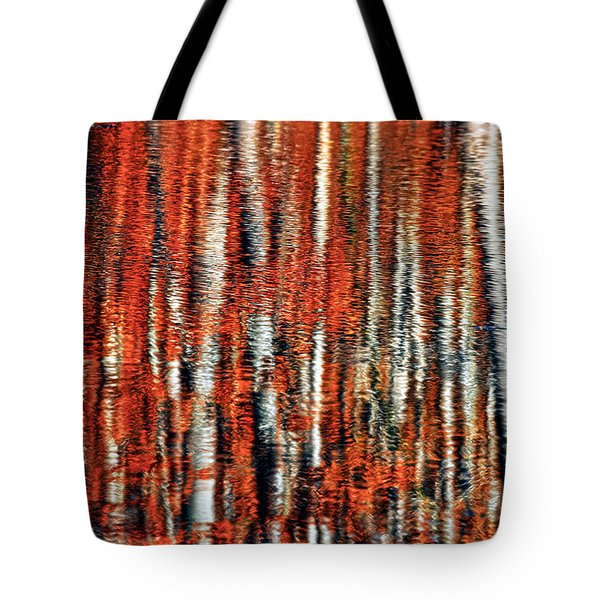 Autumn Reflection Tote Bag by Marcia Colelli
