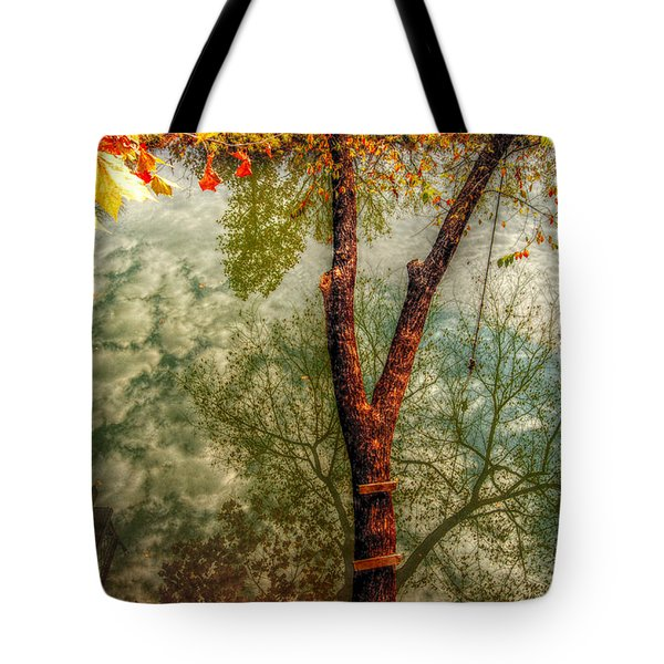 Tote Bag featuring the photograph Autumn Reflection  by Peggy Franz