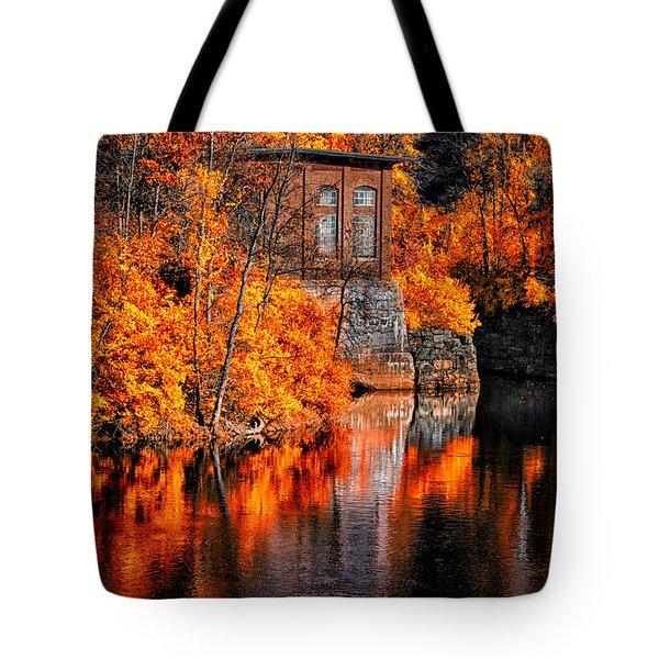 Autumn Reflections  Tote Bag by Bob Orsillo