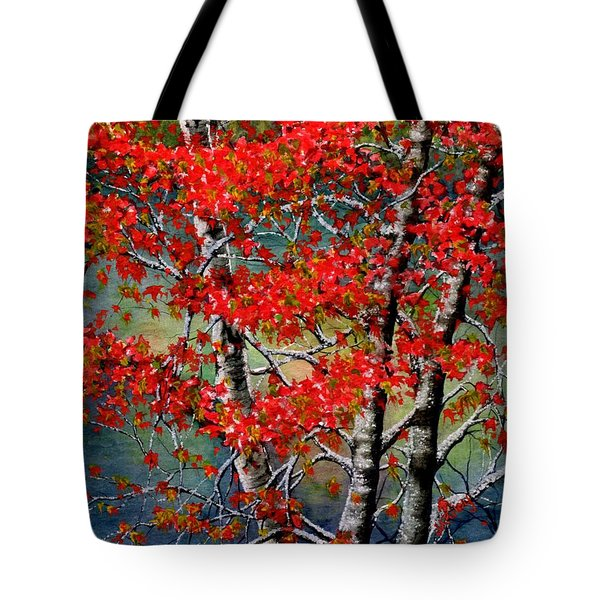 Autumn Reflections Tote Bag by Janine Riley