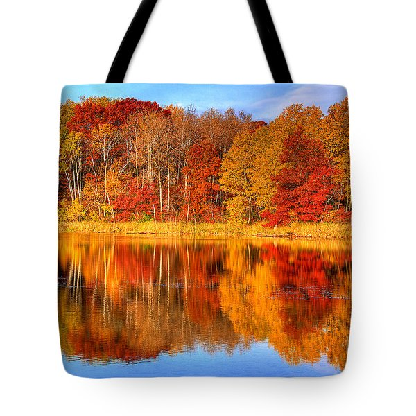 Autumn Reflections Minnesota Autumn Tote Bag