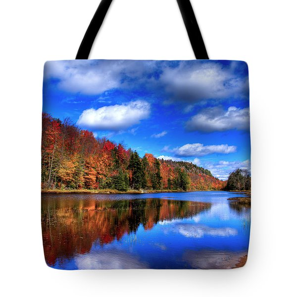 Autumn Reflections On Bald Mountain Pond Tote Bag