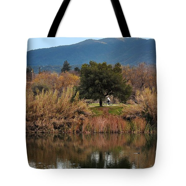 Tote Bag featuring the photograph Autumn Rider by Susan Wiedmann