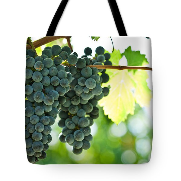 Autumn Ripe Red Wine Grapes Right Before Harvest Tote Bag by Ulrich Schade