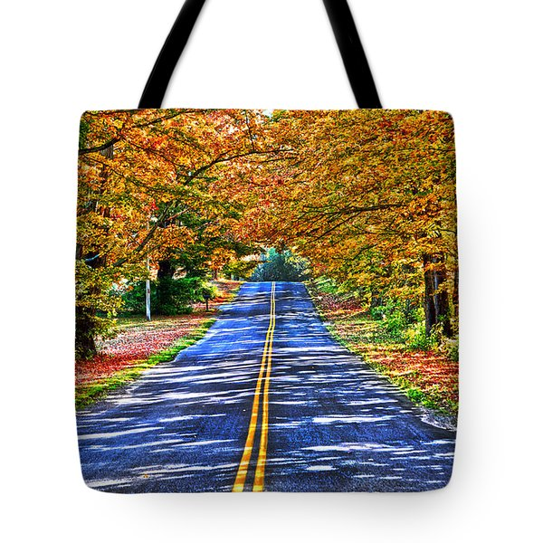 Autumn Road Oneida County Ny Tote Bag by Diane E Berry