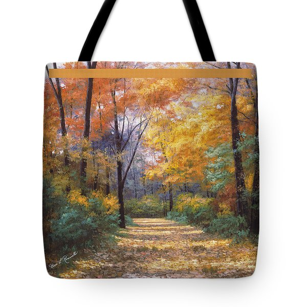 Autumn Road Tapestry Look Tote Bag by Diane Romanello