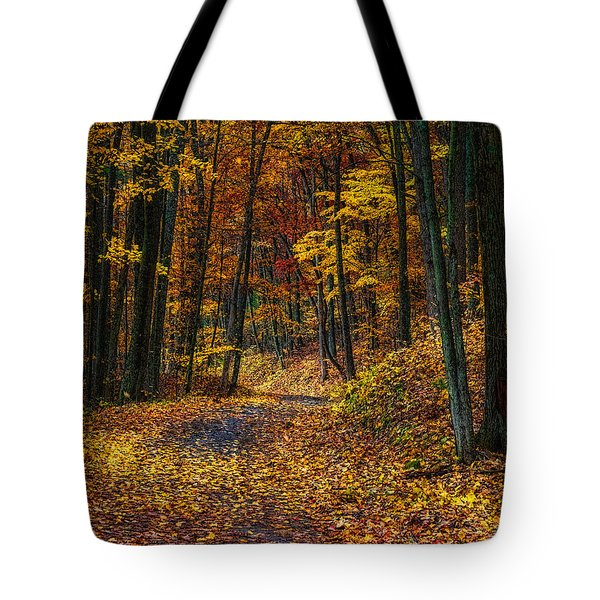 Autumn Roadway Reclamation Tote Bag