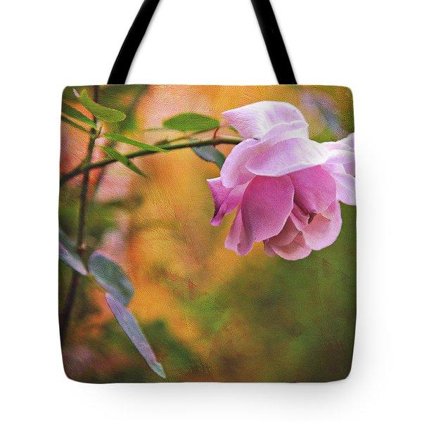 Autumn Rose Tote Bag by Theresa Tahara
