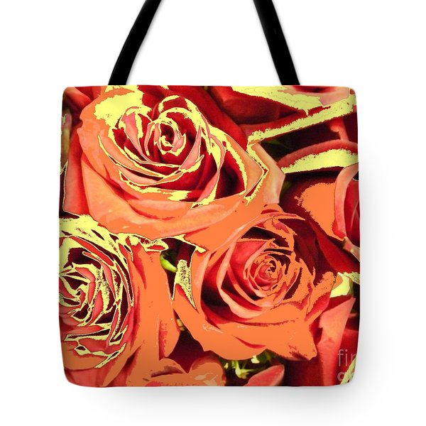 Tote Bag featuring the photograph Autumn Roses On Your Wall by Joseph Baril