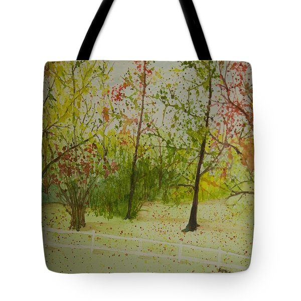Autumn Scenery Tote Bag