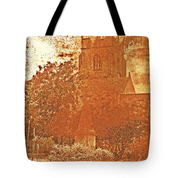 Tote Bag featuring the digital art Autumn Shades by Fine Art By Andrew David