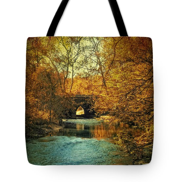 Autumn Shimmer Tote Bag by Jessica Jenney