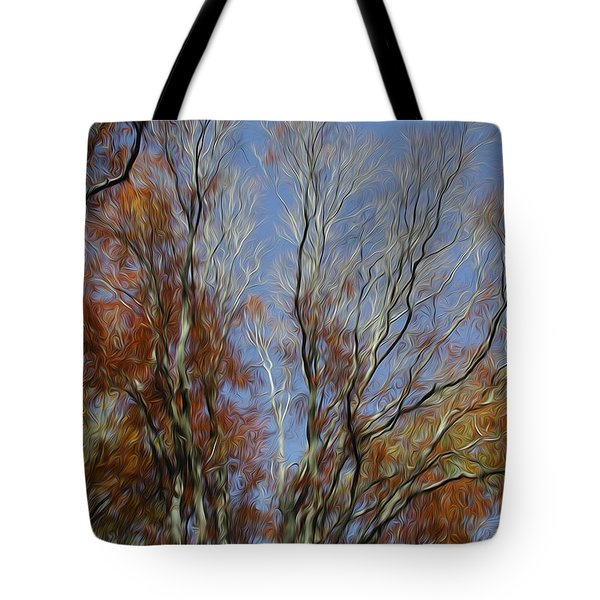 Tote Bag featuring the digital art Autumn Sky by Kelvin Booker