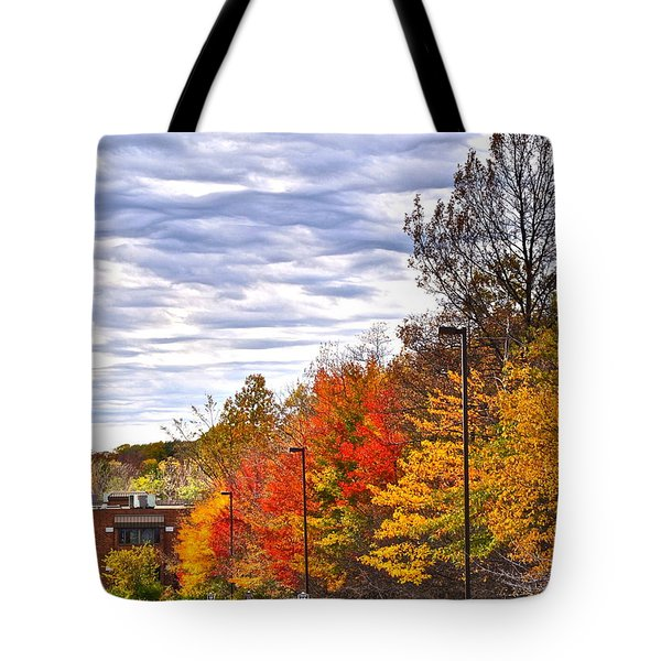 Autumn Sky Tote Bag by Frozen in Time Fine Art Photography